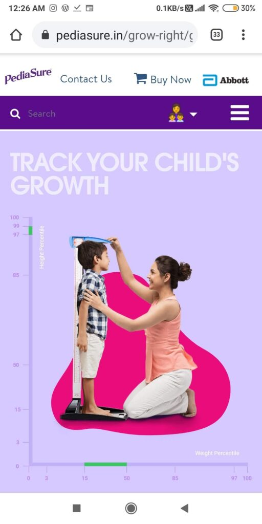 Track your child's growth